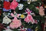 2014 BRIGHSTONE CHRISTMAS TREE FESTIVAL. ANGEL DETAIL FROM BRIGHSTONE CHURCH