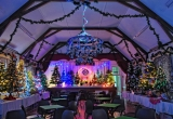 Wilberforce Hall set up for the Brighstone Christmas Tree Festival