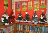 Childrens Trees in Brighstone Library - Picture by Paul Bradley