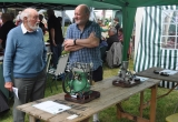 A display of locally made engines prompts deep discussion.