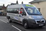 Santa drives the shuttle bus to Mottistone