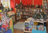 Childrens Mini Trees displayed in Brighstone Library