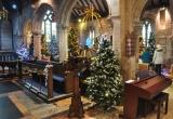 Trees fill St Marys Church in Brighstone
