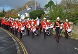 Media Marching Band leads into Brighstone