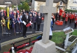Wreath laying by the Parade Marshall Peter Atkinson