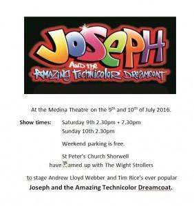Joseph poster 9th 10th July