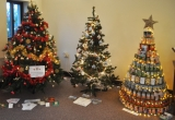 The Food Bank tree of cans and others at Brighstone Methodist Church