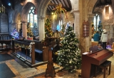 Trees fill St Marys Church in Brighstone