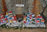 Snowmen from Brighstone Scouts in St Marys Church