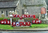Wreaths at Brighstone War Memorial