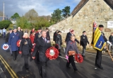 The Royal British Legion leads village Groups into the Village