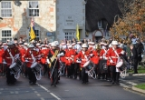 The Medina Marching Band processes into Brighstone village.