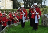 The Medina Band Buglers announce the 2 minutes silence.