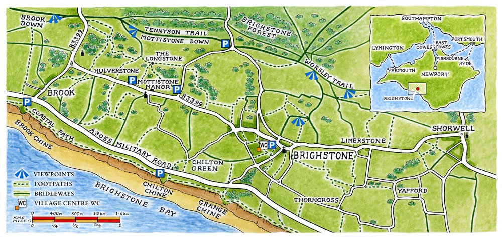 Explore Brighstone Map (Brighstone Parish Council)