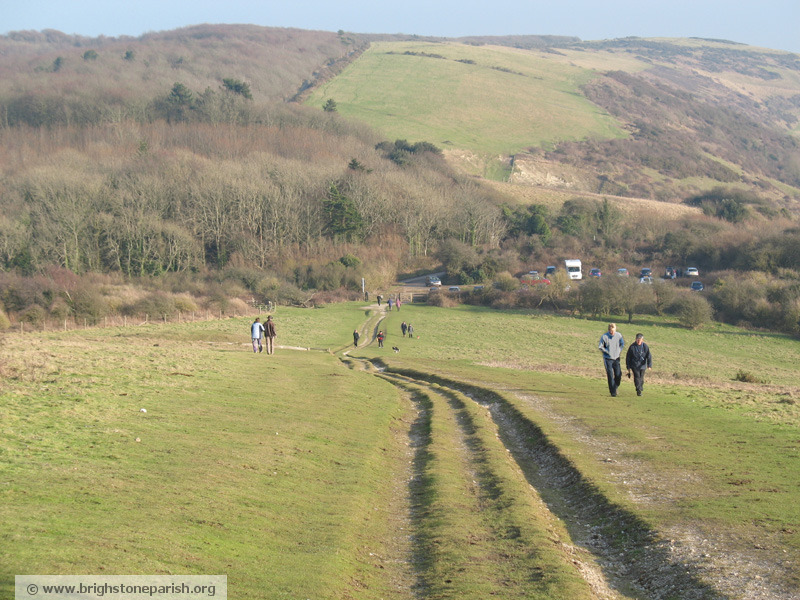 Walking on Mottistone Down, Brighstone